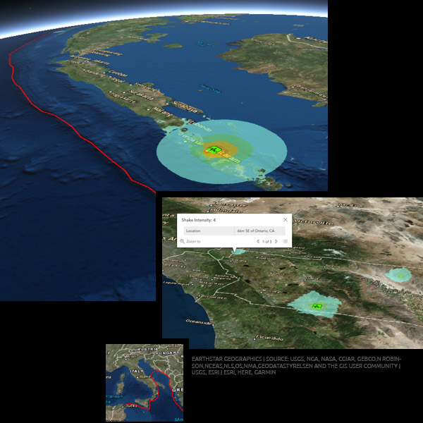 earthquake live map