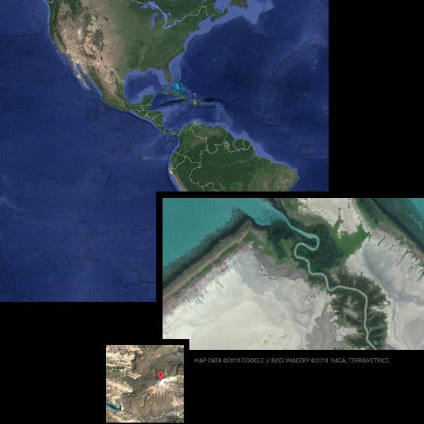 interacitve maps satellite images