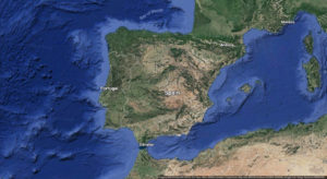 satellite map of spain